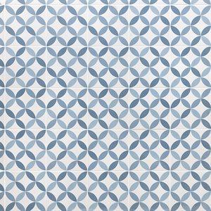 Hampton Floor Deco Steel Blue 8x8