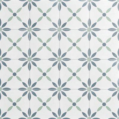 Dhar White Flower 9x9