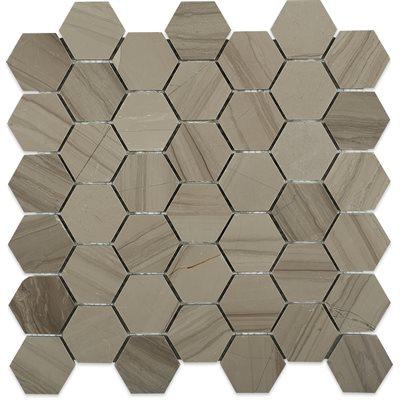 """Close Out - Athens Gray 2"""" Hexagon"""
