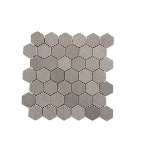 """Lady Gray Hexagon 2"""" Honed"""