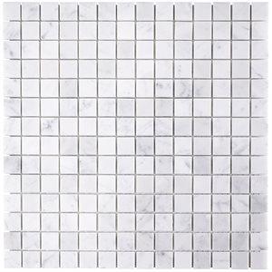 White Carrara 3 / 4x3 / 4 Squares