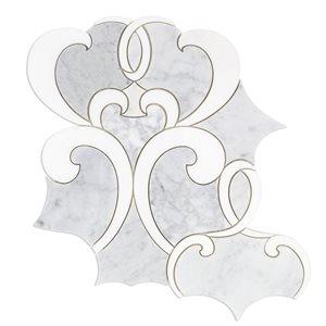 MJ Athalie - White Carrara and White Thassos