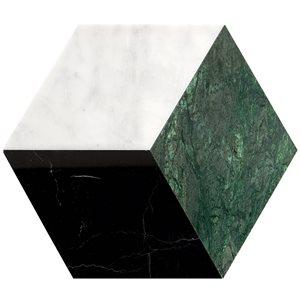 Pari Verde - Nero, Dark Green & Carrara Polished