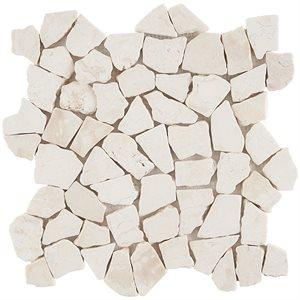 Pebblestone Lovina White Tumbled Natural Stone