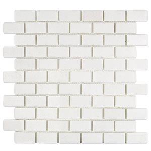 White Thassos 1x2 Brick