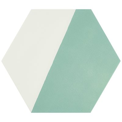 """Aries Divide Turquoise 8"""" Hex"""