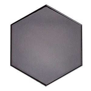 Hexagono - Liso Grafito Brillo